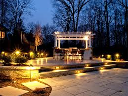 outdoor lighting entertainment area