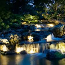 outdoor lighting water feature