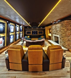 Man Cave Theater Room