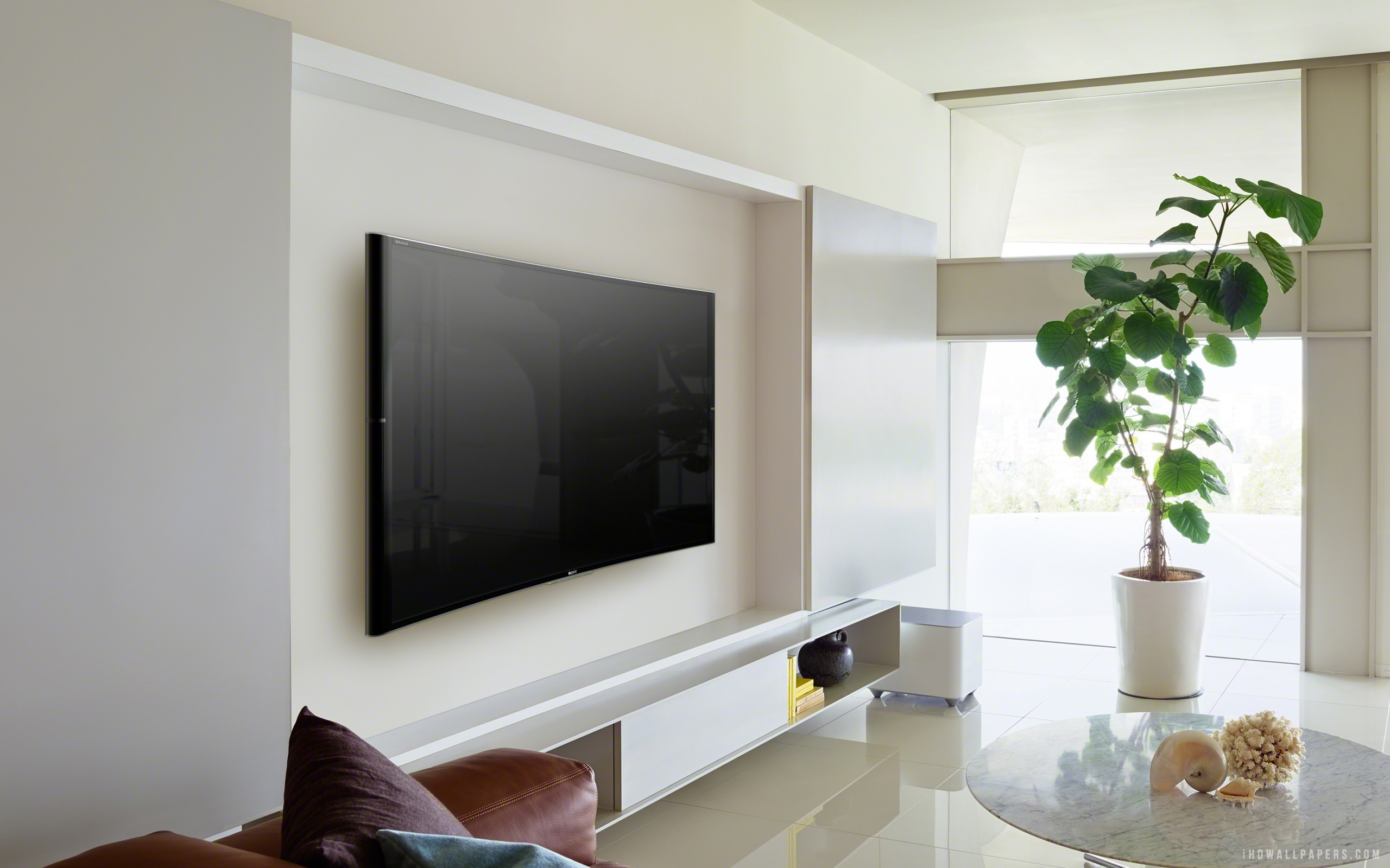 Sony wall mounted tv Flat .