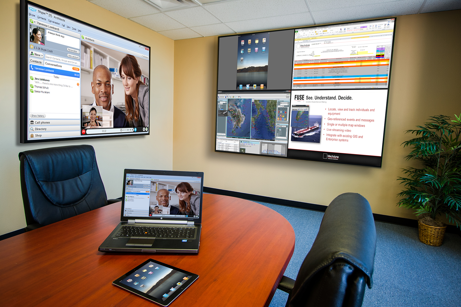 multi screen conference room | Moseley Electronics | Central VA ...