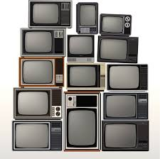 Old Retro TVs Stacked Together