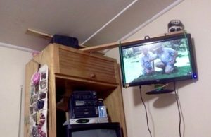 Homemade TV Wall Mount