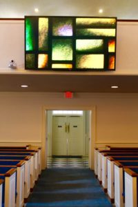 Large HD Television in a Place of Worship