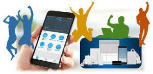 Smartphone Controls Smart Home Technology